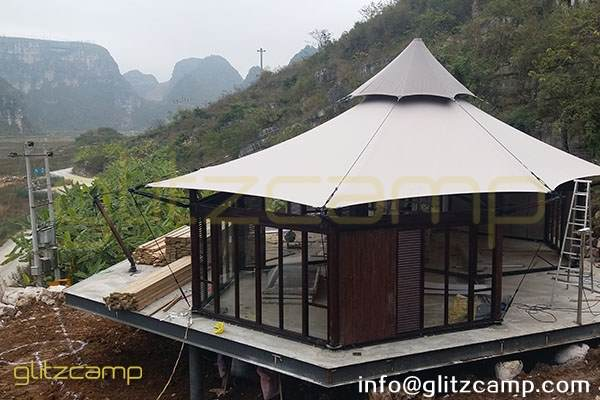 luxury gl&ing lodge tent - african safari tents hotel - glamorous c&ing resort - special tourist ... & Environmentally Friendly Tent Hotel - Glitzcamp Glamping Tent ...