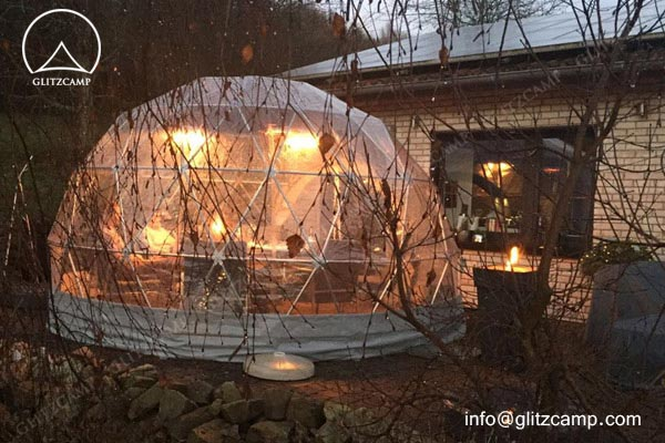 geodome tent - 4m 13ft clear dome garden geodome lounge tent (2)