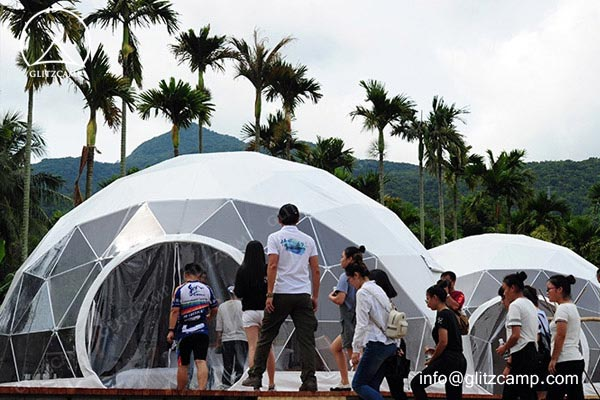 glamping domes - glamping domes eco dome Glitzcamp eco dome house glamping dome resort 5m geodome (5)