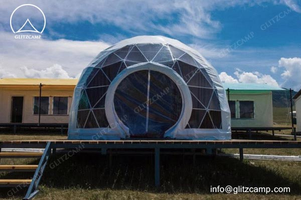 Geodesic Dome Hotel - eco living dome - resort dome house - tents hotel construction (1)