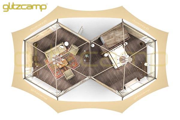 Glitzcamp Twopeak Safari Tent Eco Lodge Tent hotel resort tents - spa & resort tents - safari glamping experience (51)