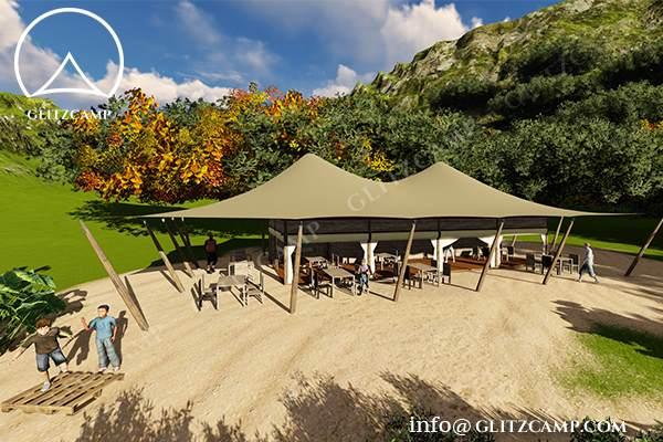 Glitzcamp Twopeak Safari Tent Eco Lodge Tent hotel resort tents - spa & resort tents - safari glamping experience (40)