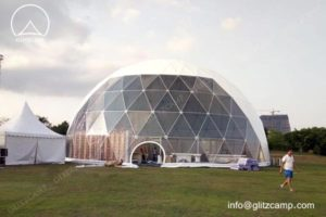 Geodesic Tent with Steel Structure for Sale
