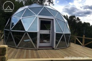 Glass Geodesic Dome House - a Good Choice for Backyard Lounge