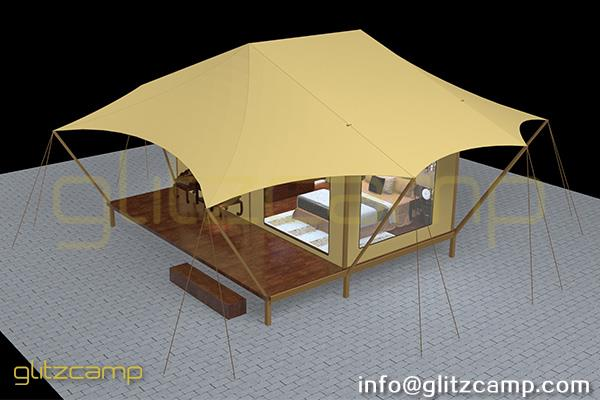 luxury glamping lodge tents - tented hotel - glamping resort for tourist attraction (3)