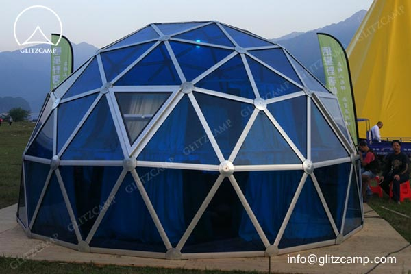 geodome house-with-Polycarbonate-panels-glamping-dome-hotel-eco-living-dome-glitzcamp glamping tent1