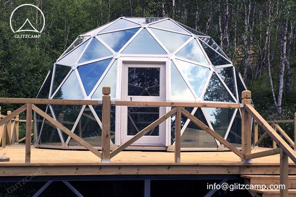 Portable Dome House : Glass dome house for living and recreation glamping