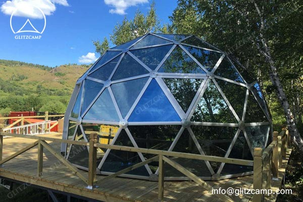 glass dome house for recration eco dome tent geo domes for tent resort (9)