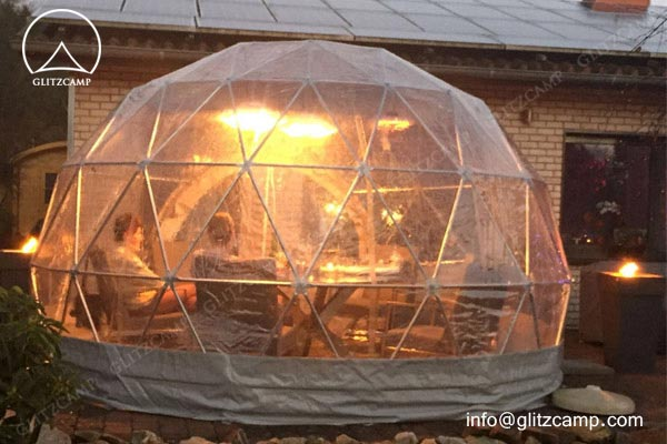 geodesic dome house in Dia.4m 5m 6m for campsite construction