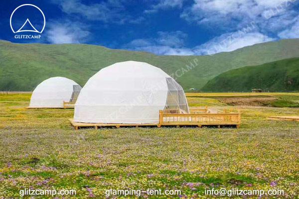 Glitzcamp glamping dome eco living dome 6m resort dome
