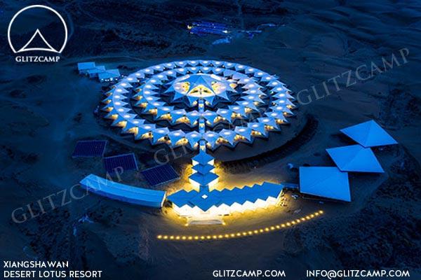 world most luxury desert resort mongolia desert tented resort glamping tent campsite Glitzcamp (29)