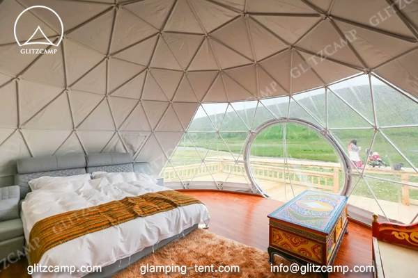 Glitzcamp glamping dome tent eco living dome 6m resort dome for sale