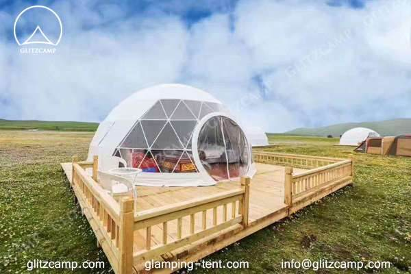 Geodesic dome - Glitzcamp glamping dome tent eco living dome 6m resort dome