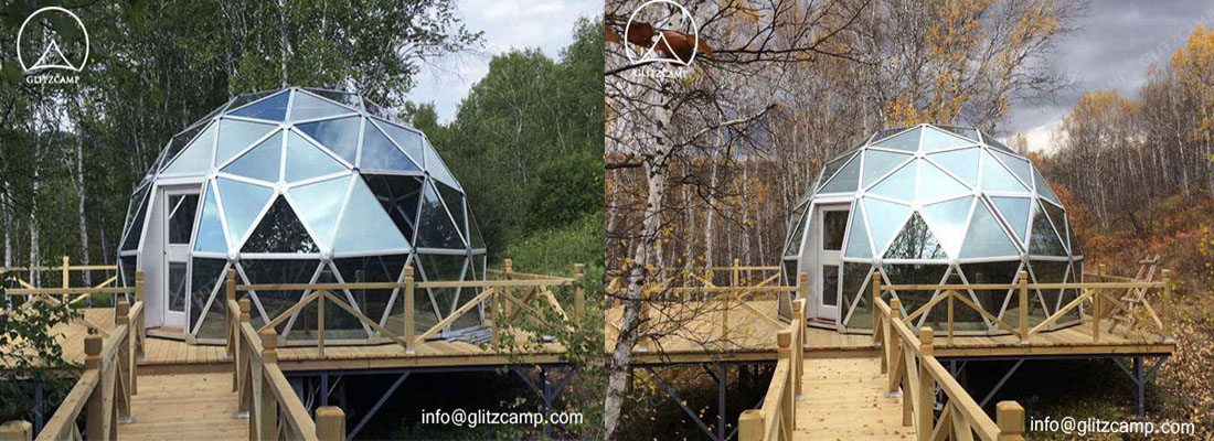dome tent-glass dome house-glamping tent-eco dome house