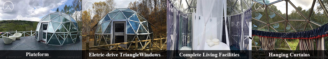 dome tent-glass dome tent details