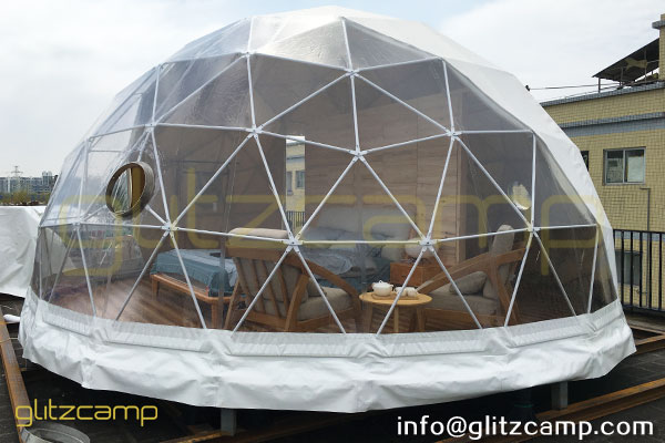 Gl&ing Tent House Showroom u2013 Rooftop Resort Tent Display Area & Glamping Tent House Showroom - Dia.6m Dome Hotel Sample Display