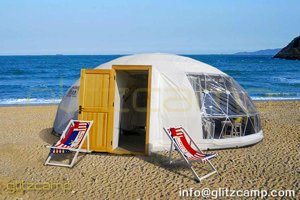 Elliptical Dome For Sale To Glamping Resort on the Beach