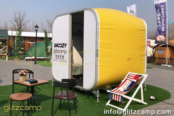 portable snooze box for sale mobile sleeping pod for glamping hotel. Black Bedroom Furniture Sets. Home Design Ideas
