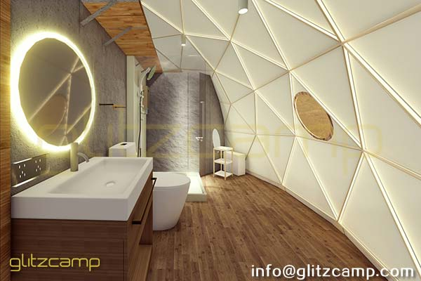 eco living dome design for luxury desert dome camp glamping experience (1)