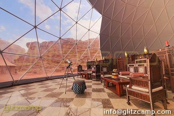 large geodesic event dome for resort banquet and dining tent hall (1)