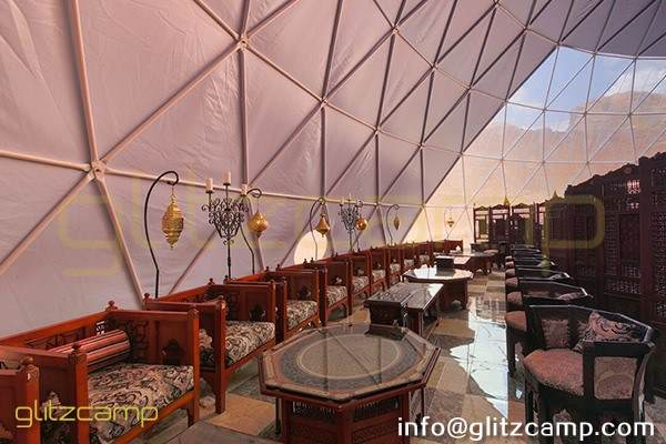 large geodesic event dome for resort banquet and dining tent hall (2)