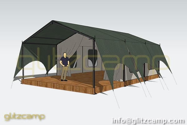 A frame canvas tent glamping luxury lodge tent suite for A frame canvas tents for sale
