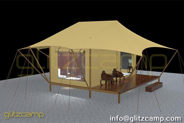 luxury glamping lodge tents - tented hotel - glamping resort for tourist attraction (2)