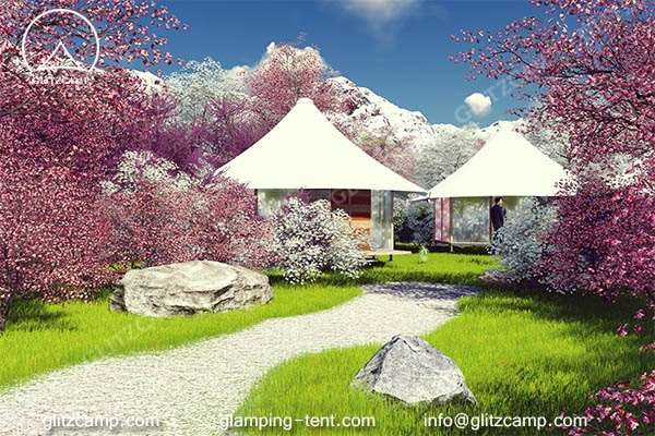 luxury ldoge tent for outdoor tent house in nature reserve park or park campsite - glamping vocation (1)