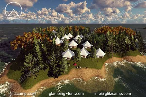 luxury lodge tent for glamping campsite on beach lakeside or island (3)
