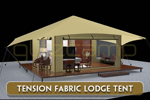 tension fabric lodge tent-for-sale---luxury-forest-lodge-tent---glamping-in-natural-park