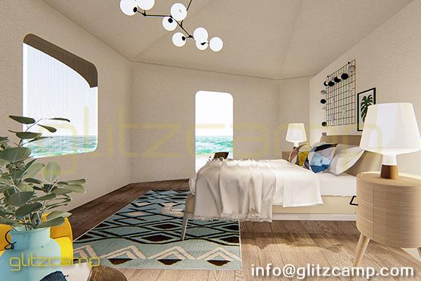 glamping lodge tent - luxury glam camping suite for family - mono-peak-lodge-tent-A6H1-1