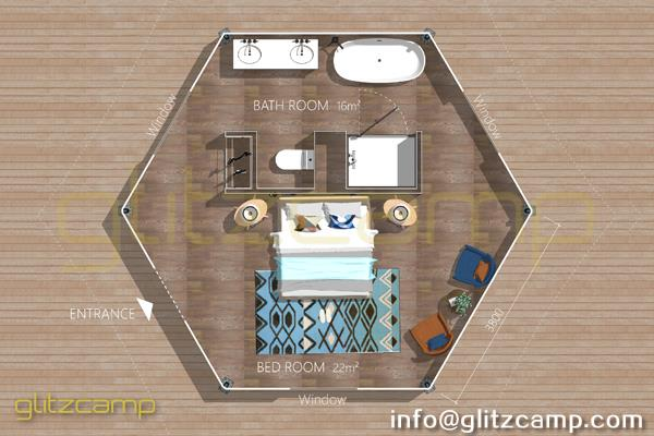 glamping lodge tent - luxury glam camping suite for family - mono-peak-lodge-tent-A6H1-3
