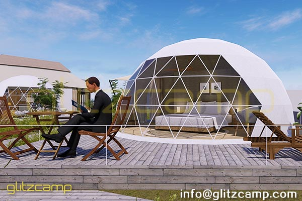 Dia 6m Glamping Dome Kits For Sale - Glitzcamp Mountain Lodge Tents