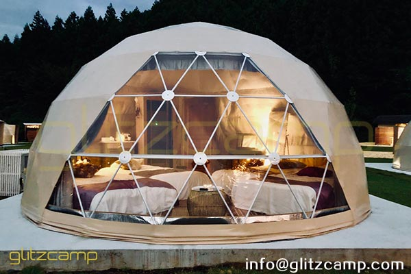 glamping dome kits for sale-geodesic dome pods for glamorous camping getaway-resort and hotel dome tent on moutain valley and jungle (4)