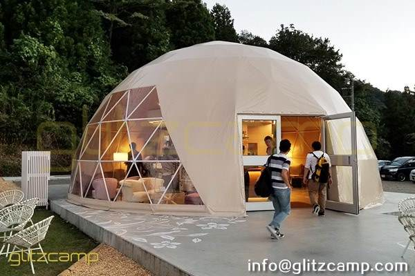 tent for reception-dia.10m geodesic dome tent for lounge and recreation-eco living dome resort (4)