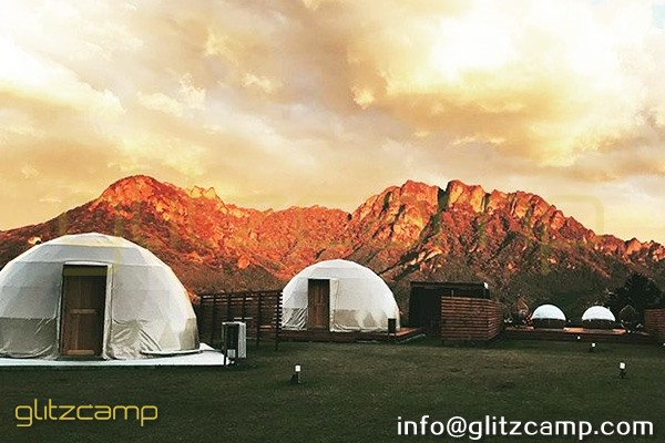 tented resort in Japan-luxury gramping experience- glumping 妙義 - geodesic dome tent campsite (28)