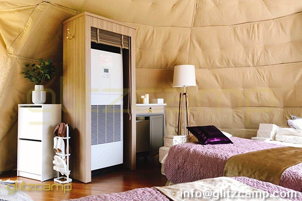 tented resort in Japan-luxury gramping experience- glumping 妙義 - geodesic dome tent campsite (46)