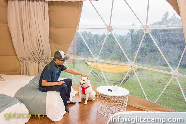 tented resort in Japan-luxury gramping experience- glumping 妙義 - geodesic dome tent campsite (9)