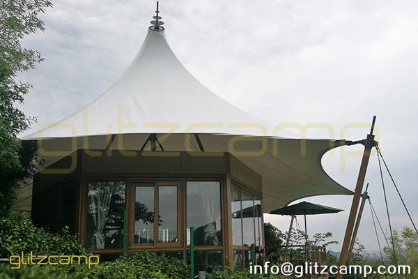 luxury safari tent multi peaks lodge tent for sale-luxury lodge glamping in jungle resort-deluxe outdoor accommodation in glamping lodges-glitzcamp (9)
