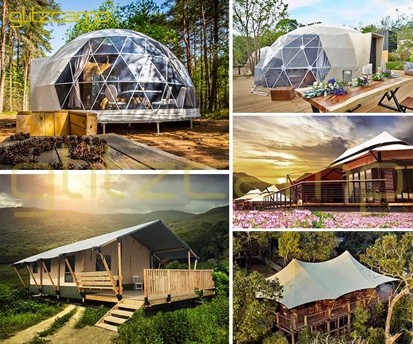 eco living dome-geodesic dome house-luxury safari tent-deluxe lodge tent-glitzcamp glamping tent banner