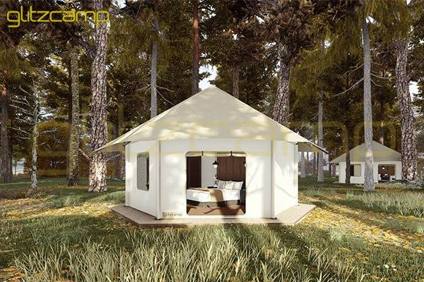 luxury tented camp - Glitzcamp tent - luxury glamping lodge - tents hotel and resort for sale (11)