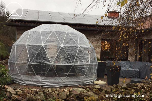 geodome tent - 4m 13ft clear dome garden geodome lounge tent (3)