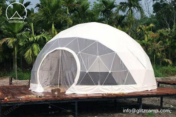 glamping domes - eco farm glamping domes Glitzcamp eco dome house glamping dome resort 5m geodome (3)