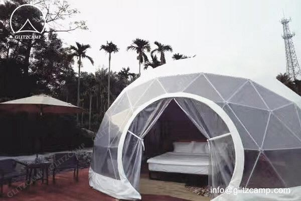 glamping domes - 16ft glamping domes Glitzcamp eco dome house glamping dome resort 5m geodome (4)