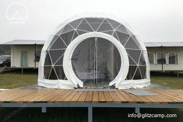 Geodesic Dome Hotel - eco living dome - resort dome house - tents hotel construction (4)