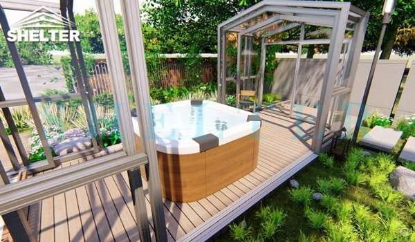 pool and spa enclosures - transparent sunhouse clear top sun house shed for spa (4)