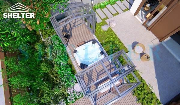 spa enclosures - Telescopic Glass Enclosures - retractable sunroom - greenhouse pool enclosures
