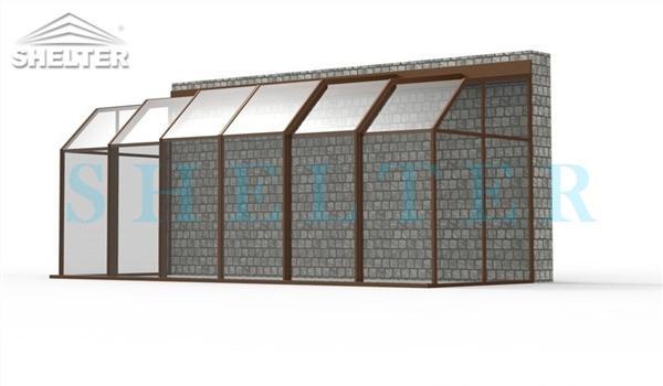 polycarbonate enclosures - retractable patio enclosures - telescopic sunroom extension - above ground or inground swimming pool enclosures - enclosed porch - glass polycarbonate dome spa enclosure (26)