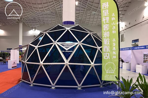 glass dome greenhouse-Glass Dome House Dome tent hotel for resort geo dome glamping dome (3)