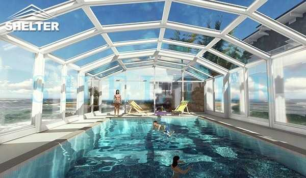 pool and spa enclosures - retractable patio enclosures - telescopic sunroom extension - above ground or inground swimming pool enclosures - enclosed porch - glass polycarbonate dome spa enclosure (19)
